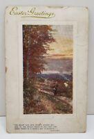Happy Easter Beaded Raphael Tuck Series Through the Woods 9706 Postcard B20