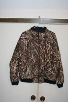 Mossy Oak Shadow Grass Reversible Hunting Jacket Camouflage Men Large Lined EUC