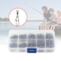 210Pcs/box Fishing Rolling Swivel with Nice Snap Kit Tackle Connector Size 2#-8#