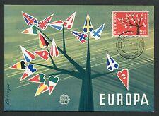 GREECE MK 1962 EUROPA CEPT MAXIMUMKARTE CARTE MAXIMUM CARD MC CM d1896