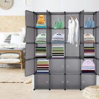 20 Cube Plastic Clothes Storage Closet Wardrobe Rack Modular Shelf Organizer DIY