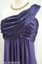 Davids Bridal gown 1 Shoulder bridesmaid Jersey Dress Cascade F13185 FORMAL 12