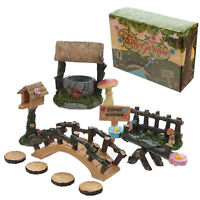Magical Forest Fairies Welcome Home Miniature Flower Fairy Garden Accessory Kit