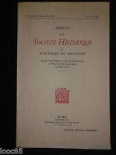 Bulletin de la société historique et scientifique des Deux-Sèvres 1972 Niort