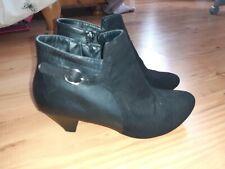Ladies Black Ankle Boots Size 4