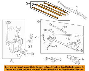 HONDA OEM 98-02 Accord Wiper Washer-Windshield-Blade Right 76630S84A01