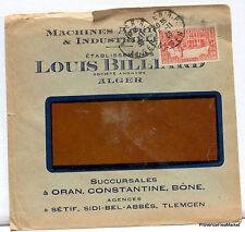 LETTRE  ALGERIE ALGER LOUIS BILLIARD 1936  166ca176
