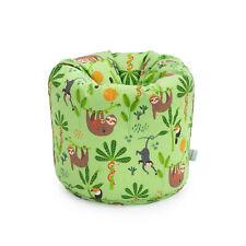 Children's Bean Bag Rainforest Green Girls Kids Bedroom Furniture Beanbag Seat