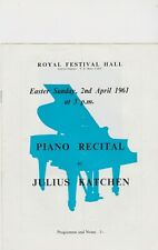 COLLECTION OF VINTAGE CLASSICAL CONCERT PROGRAMMES *JULIUS KATCHEN etc *