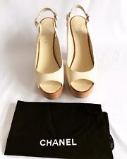 Chanel Cream Leather Shoes EUR 40.5 UK 7.5