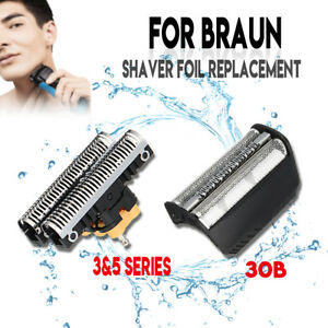 Shaver Foil + Cutter Blade Replacement for BRAUN 30B 310 330 340 195S 7000/4000