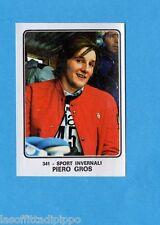 CAMPIONI dello SPORT 1973/74-Figurina n.341- GROS -SPORT INVERNALI-Rec