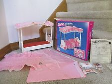Barbie Doll Canopy Dream Bed with Box sheet pillow 1982 5641 Funiture collection