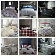 Flannelette Duvet Cover Bedding Set 100% Brushed Cotton Single Double King Sizes