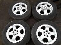 Mercedes W163 Alliage Roue Set (4X) R17 8J ET52 Pour Classe ML OEM 1634013202