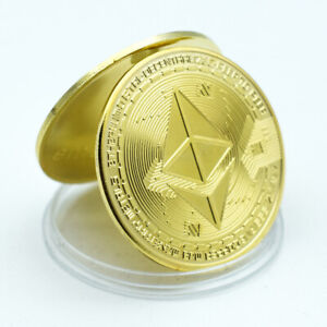 Ethereum Gold Plated Metal Coin Festival Souvenir Coin Uncurrency Metal Coin