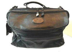 "Vintage Bugatti Leather Briefcase Laptop Computer Bag Black 16x12x5.5"""