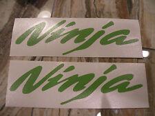 """#371 (2) 4"""" Kawasaki Ninja stickers decals zx9 zx6r vinyl KAWASAKI GREEN"""