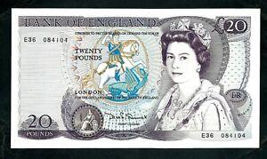 Bank of England (P380c) 20 Pounds 1981 Somerset wmk  QEII VF+