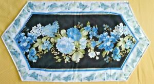 Handmade Quilted Beautiful Table Topper Runner Mat Stitched 21 (14) x 11.5