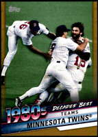 Minnesota Twins 2020 Topps Decade's Best Series 2 5x7 Gold #DB-59 /10