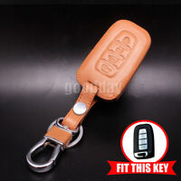 Bronzer Leather Smart Key Holder Case Cover For Hyundai Elantra 2014~2015