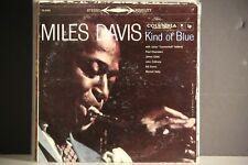 MILES DAVIS LP KIND OF BLUE1959  6 EYE US STEREO PRESSING CS8163   COLTRANE