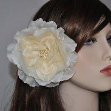 Pivoine ivoire fleur soie rose BROCHE ÉPINGLE Fascinator Parure pour cheveux