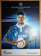 Autogrammkarte Klaas-Jan Huntelaar FC Schalke 04 2010/2011 Ajax, AC Milan, Real