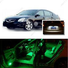 For Nissan Maxima 2004-2008 Green LED Interior Kit +  White License Light LED