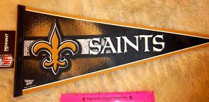 New Orleans Saints NFL football Team 30 x 12 Felt Pennant, Large Logo, USA made