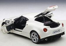 Autoart ALFA ROMEO 4C White Composite Model in 1/18 Scale. New! In Stock!