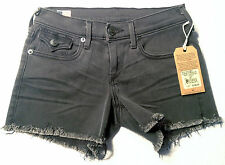 True Religion Women's Keira Low Rise Mid Thigh Cut-Off Short, Grand Ave
