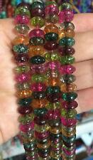 "5x8mm Multicolor Tourmaline Gemstones Abacus Loose Beads Jewelry 15"" AAA"