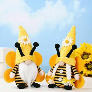 UK STOCK World Bee Day Gnome Nordic Gonk Tomte Sunflower Swedish Plush Doll