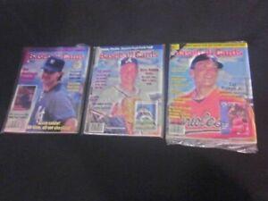 (3) Baseball Cards Magazine Oct. & Dec 1991 Don Mattingly Call Ripken JR & Apr92