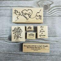 Stampin Up HEART & SOUL 6pc Set Wedding Bride Groom Doves