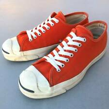 Used 1990's CONVERSE Jack Purcell Orange Sneakers US9.5 27.5cm From USA