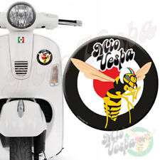 Round Black/Mio Vespa Logo 3D Decal sticker for all models Gts ET PX LX 250 300
