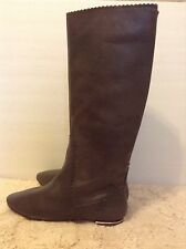 Juicy Couture SZ 6 Boxer Steel Metal Gray Lizard Tall Fashion Boots new