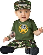 PRIVATE DUTY Sergeant Infant (12-18 Mo.) 2-Piece Baby Costume Jumpsuit Military