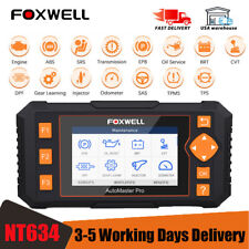 Foxwell NT634 OBD2 Code Reader Engine EPB DPF Injector ABS SRS Diagnostic Tool