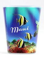 MAUI HAWAII TROPICAL FISH AND TURTLE SHOT GLASS SHOTGLASS