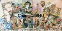 Craft clearout mix, card toppers / paper die cuts / bundle Joblot flower garden