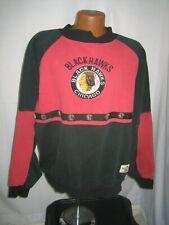 VINTAGE 90S CHICAGO BLACKHAWKS SWEATSHIRT BY MIRAGE ADULT XL NHL HOCKEY VTG