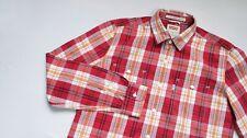 Levis Casual shirt men Long Sleeve top size M Medium Modern fit red PLAID
