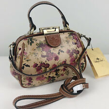 Patricia Nash Antica Floral Leather Antique Rose Small Satchel Crossbody Bag Nwt