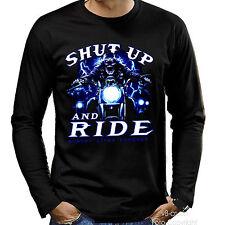 * Biker Chopper Motorcycle Rider Skull moto t-shirt * 4140 ls
