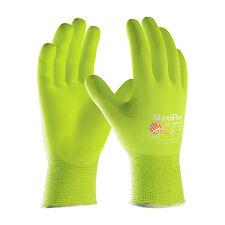 NEW PIP 34-874FY/M MaxiFlex Ultimate, 15G HiViz Yellow Nylon Shell Gloves