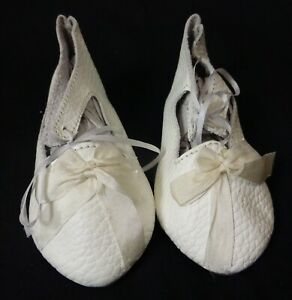 """95mm pc LEATHER SHOES  for ANTIQUE DOLL ,  """"Jumeau"""" Shoes , Doll Clothes"""